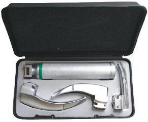 Laringoscopio Fibra Optica Acero Inoxidable 3 Hojas Pediátrico